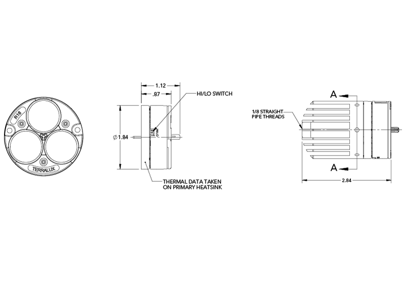 tlm r16d a35 low voltage spot engine terralux a35 bracket a35 engine diagram #29
