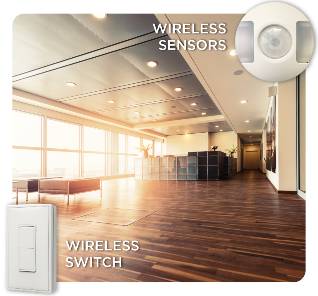 Have complete control with wireless and battery free switches and sensors in our intelligent building solutions LEDSENSE